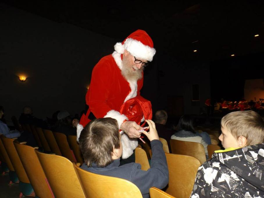 Santa Ben handing out candy canes