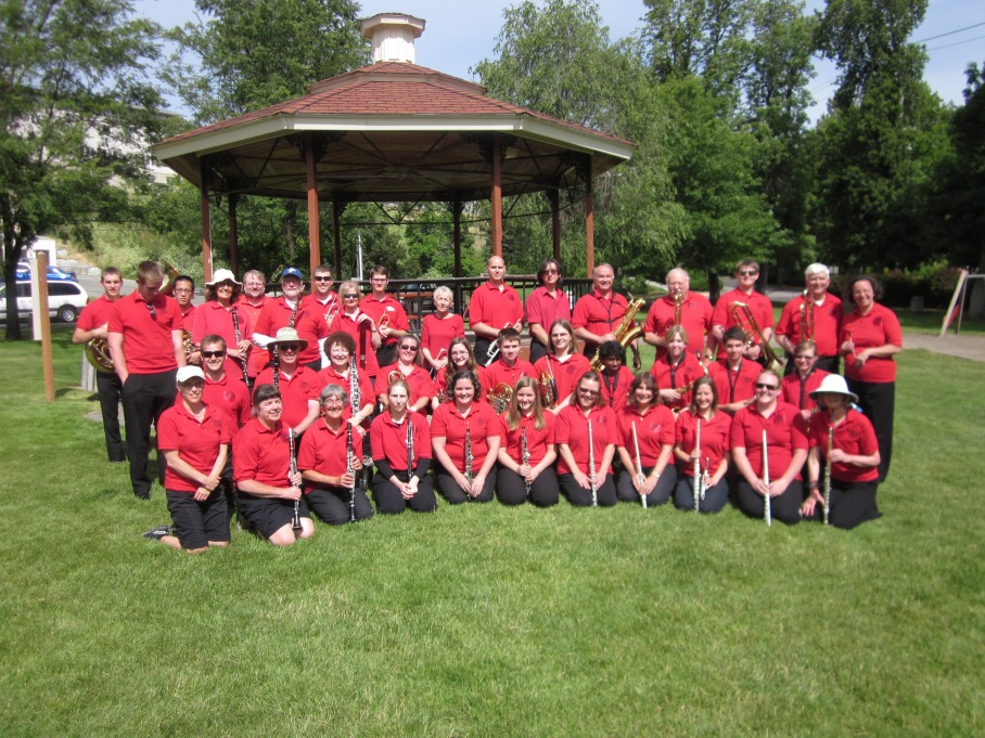 Community Band of the Palouse at Reaney Park, June 2014