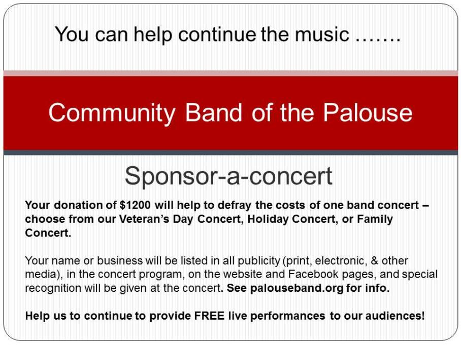 Sponsor a concert 2015